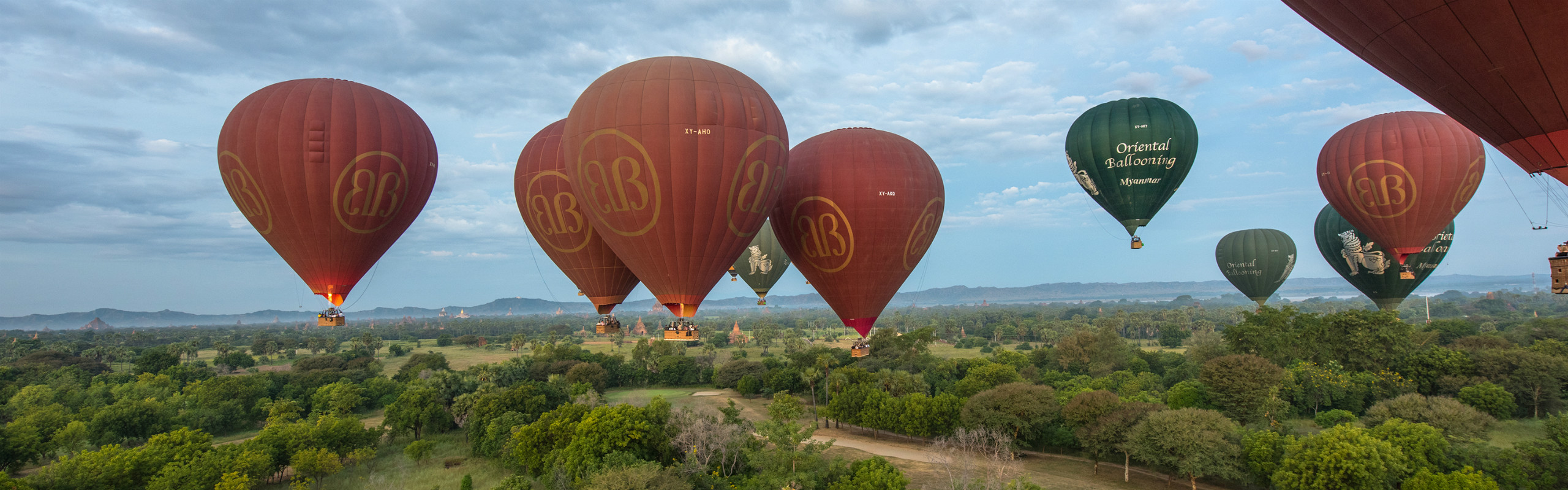 Balloon Flights Over Bagan - Fly towards the Rising Sun
